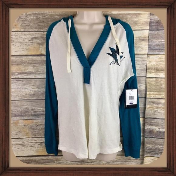 f6e696f39 San Jose Sharks NHL Light Weight Hooded Sweater